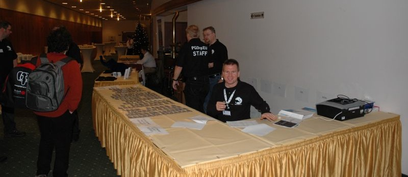 The 2010 registration desk